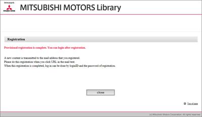 ID Registration Reference Guide MITSUBISHI MOTORS Library - Mitsubishi registration